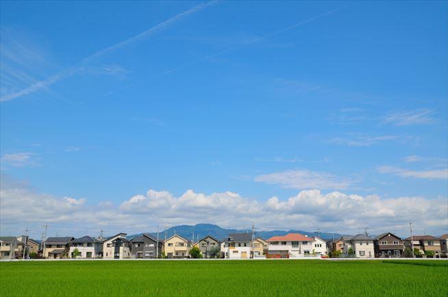田舎町の景色