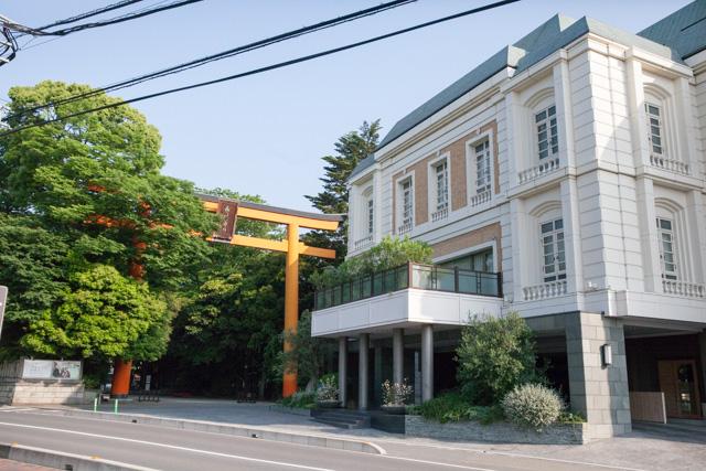 川越氷川神社周辺の外観