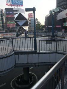 川越駅の外の様子